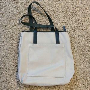 Everlane zip top tote bag